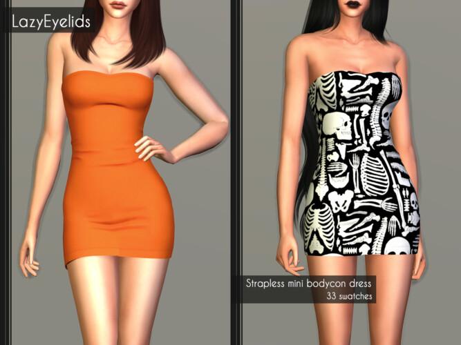 Straplees Mini Bodycon Dress