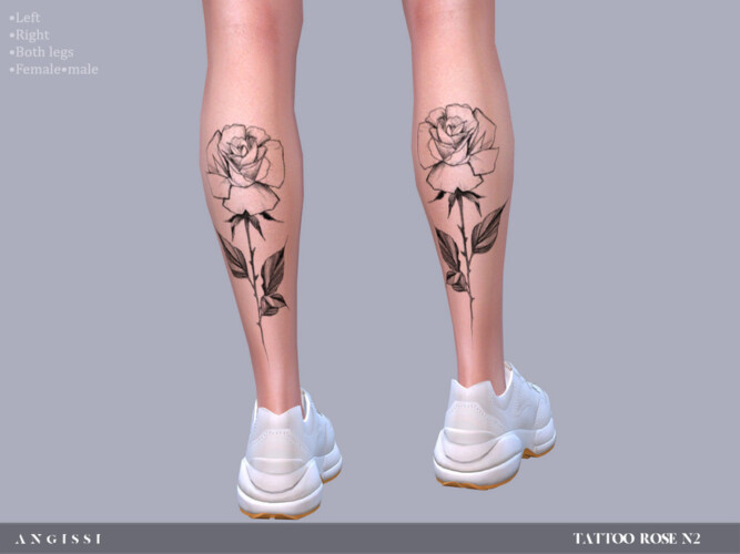 Rose N2 Tattoo By Angissi