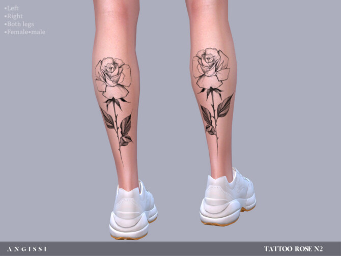 Sims 4 Rose n2 tattoo by ANGISSI at TSR