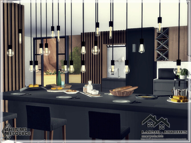 Sims 4 LARMO Kitchen by marychabb at TSR