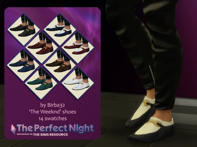 Sims 4 The Perfect Night The Weeknd shoes by Birba32 at TSR
