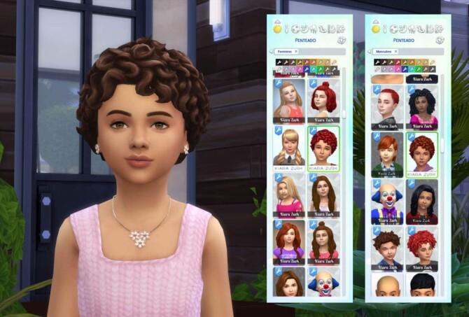 Sims 4 Camila Curls for Kids at My Stuff Origin