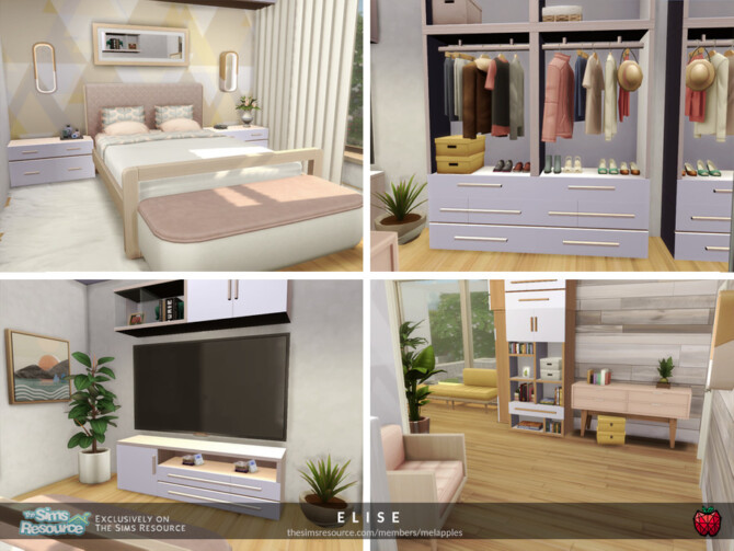 Sims 4 Elise house by melapples at TSR