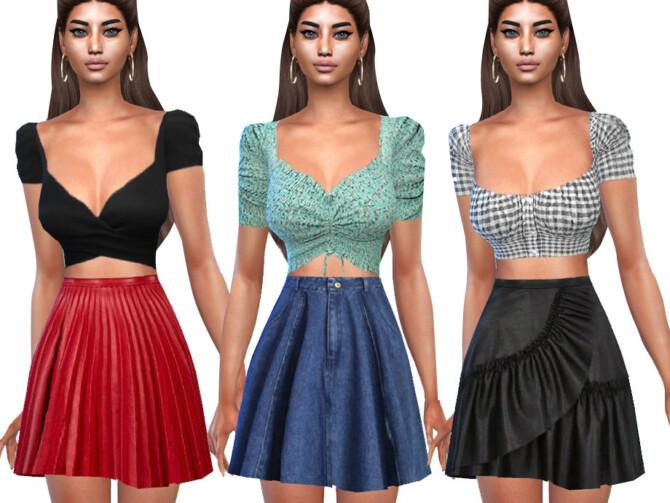 Sims 4 Casual Skirt Mix by Saliwa at TSR