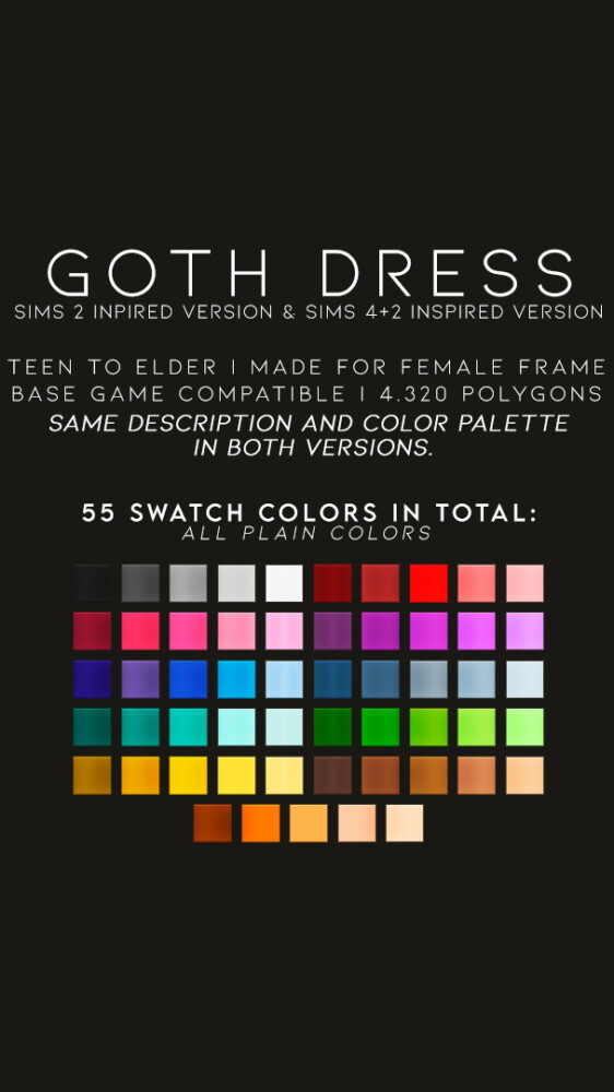 Sims 4 GOTH DRESS at Candy Sims 4