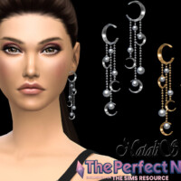 Crescent With Pearl Earrings By Natalis
