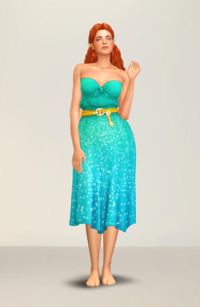 Sims 4 Seashell Wavvve Twinkling Dress at Rusty Nail