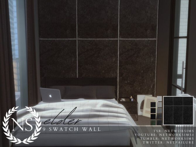 Sims 4 Elder Marble Walls by Networksims at TSR
