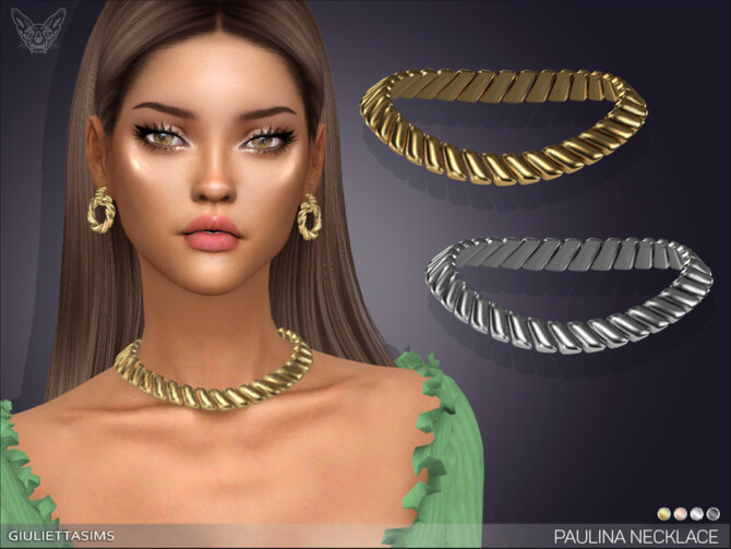 Sims 4 Paulina Necklace by feyona at TSR