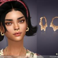 Folium Little Hoop Earrings By Feyona