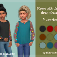 Blouse With Dotted Sheer Sleeves By Mysteriousoo