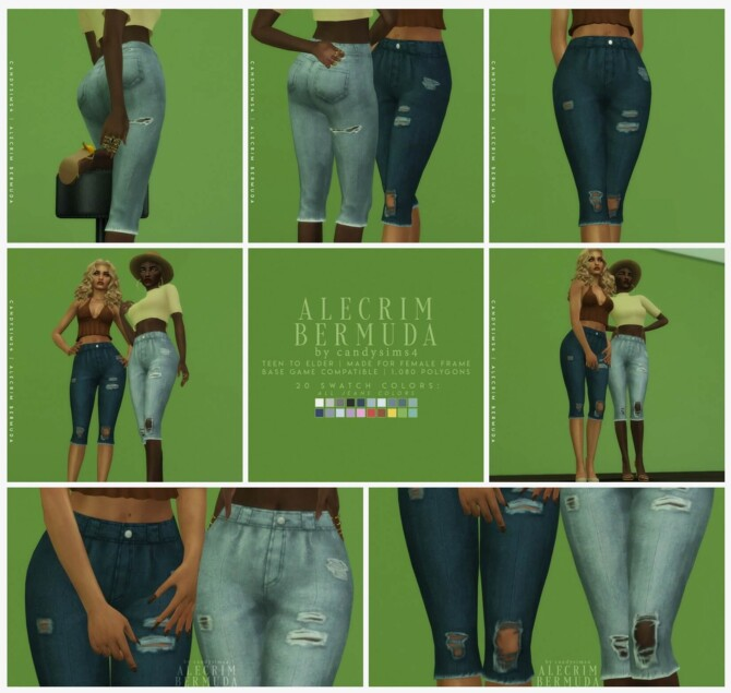 Sims 4 Alecrim Bermuda Shorts at Candy Sims 4