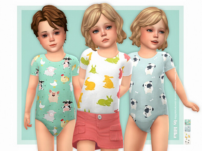 Sims 4 Toddler Onesie 15 by lillka at TSR