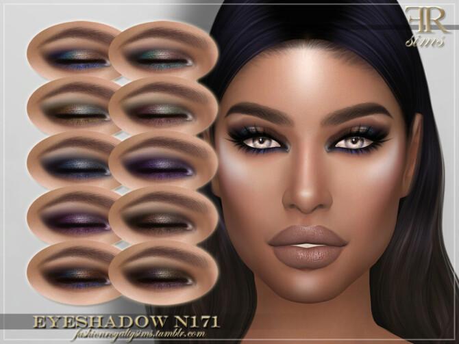 Sims 4 FRS Eyeshadow N171 by FashionRoyaltySims at TSR
