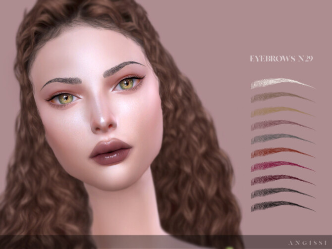 Sims 4 Eyebrows n29 by ANGISSI at TSR