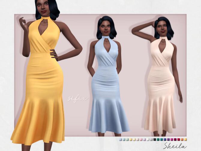 Sims 4 Sheila Dress by Sifix at TSR