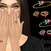 Strawberry Chain Bracelet With Ring (left) By Natalis