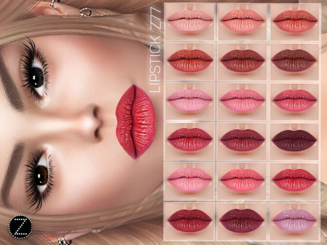 Sims 4 LIPSTICK Z77 by ZENX at TSR