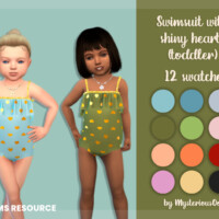 Swimsuit With Shiny Hearts (toddler) By Mysteriousoo