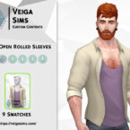 Open Shirt With Rolled Sleeves By David_mtv