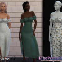 The Perfect Night Slit Dress By Chrimsimy