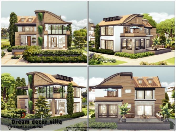 Sims 4 Dream decor villa by Danuta720 at TSR