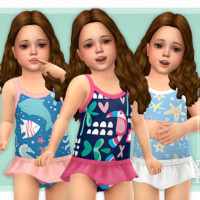 Toddler Swimsuit P17 By Lillka