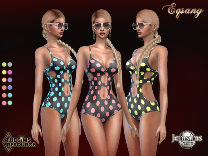 Sims 4 Eqsany swimsuits by jomsims at TSR