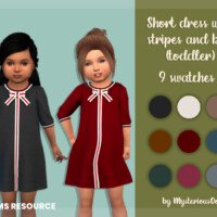 Short Dress With Stripes And Bow (toddler) By Mysteriousoo