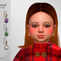 Crystal Earrings Toddler By Suzue