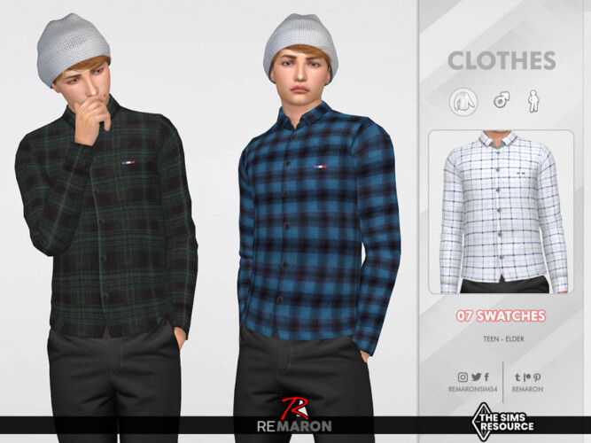 Formal Shirt 05 For Male Sim By Remaron