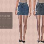 Horizon Denim Skirt By Pipco