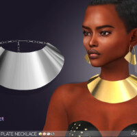 Keondra Plate Necklace By Feyona