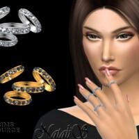 Tiny Diamond Rings Set By Natalis