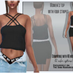 Women's Top With Four Stripes By Sims House