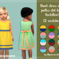 Short Dress With Polka Dot Bow (toddler) By Mysteriousoo