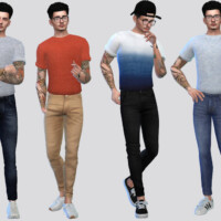 Tucked Basic Rolled Tees By Mclaynesims