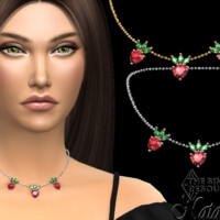 Strawberry Pendant Chain Necklace By Natalis