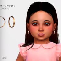 Simple Hoops Earrings Toddler By Suzue