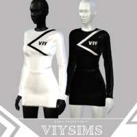 Dress I Basic Collection By Viy Sims