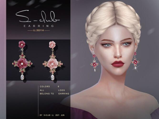 Flower Earrings 202114 By S-club Ll