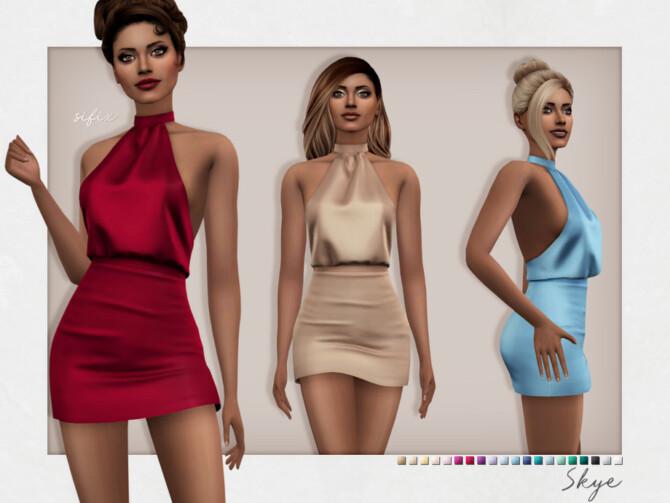 Sims 4 Skye Dress by Sifix at TSR