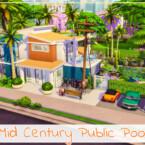 Mid Century Public Pool By Simmer_adelaina
