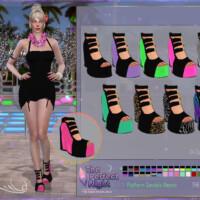 Platform Sandals Neonis By Dansimsfantasy