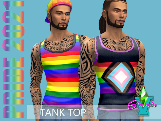Sims 4 Pride21 Tank Top by SimmieV at TSR