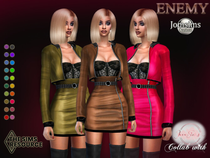 Sims 4 Enemy outfit by jomsims at TSR