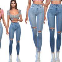 Ripped Casual Jeans By Saliwa