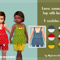Loose Summer Top With Bow By Mysteriousoo