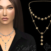 Mini Disk Layered Necklace By Natalis