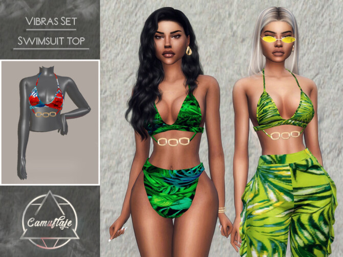 Sims 4 Vibras Set Swimsuit Top by Camuflaje at TSR
